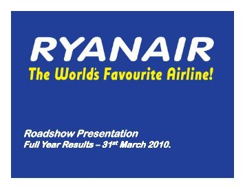 Full Year Results - Ryanair