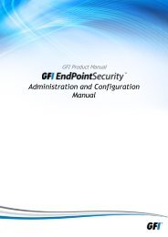 Administration and Configuration Manual - GFi
