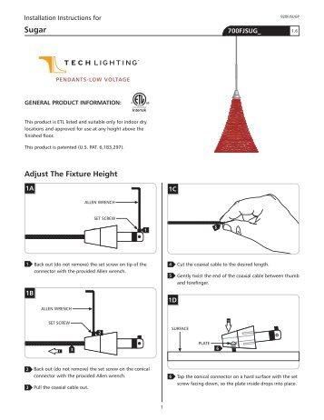 Adjust The Fixture Height - Tech Lighting
