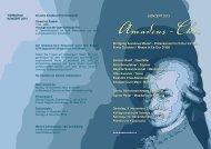 Programm 2013 - Amadeus-Chor