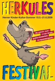 Herner Kinder-Kultur-Sommer 10.5.–21.6.2009 - Stadt Herne