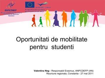 Prezentare Erasmus Valentina Neg ANPCDEFP - LLP