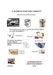 CONFIRMATION FIRST EUCHARIST 2013 - Parishes