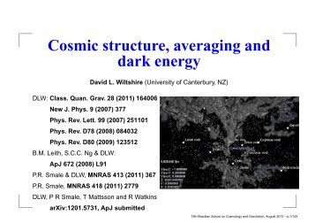 Slides of 5 lectures at XV Brazilian School on Cosmology and ...