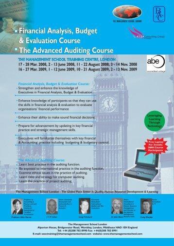 FIN - ANALYSIS - 08.pdf - The Management School London