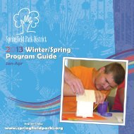 Seasonal Brochure - Springfield Park District