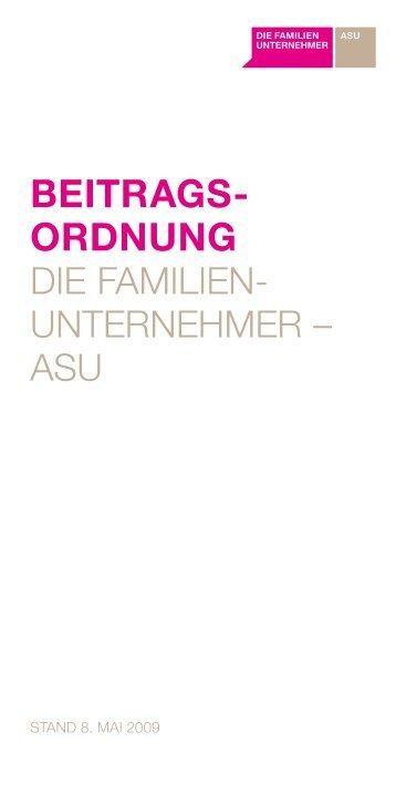 BEITRAGS ORDNUNG - Familienunternehmen