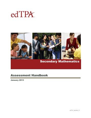 Secondary Mathematics Assessment Handbook - Faculty web pages