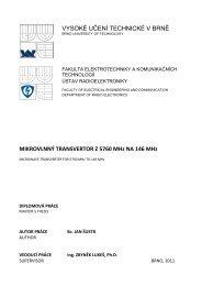Mikrovlnný transvertor z 5760 MHz na 146 MHz - Vysoké učení ...