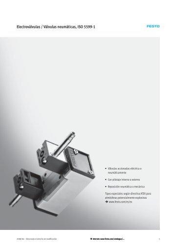 Electroválvulas / Válvulas neumáticas, ISO 5599-1