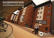 Please read this guide to living in halls. - Buckinghamshire New ...