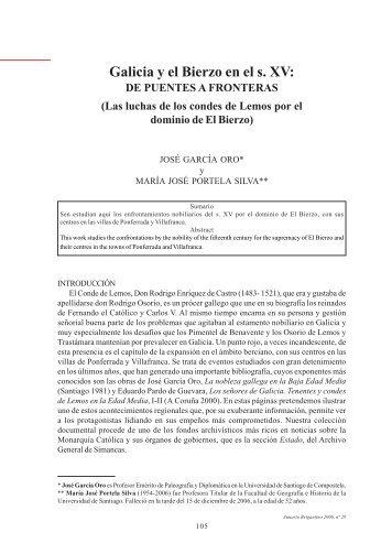 Galicia y el Bierzo en el s. XV: - Anuario Brigantino - betanzos
