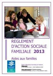 Pour consulter le REGLEMENT ACTION SOCIALE 2013 - Caf.fr