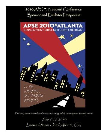 June 8-10, 2010 Loews Atlanta Hotel, Atlanta, GA - APSE