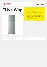 SJ-CT440RSL-Refrigirator Mid Size - Sharp Electronics