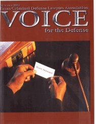 Lubbock, TX - Voice For The Defense Online