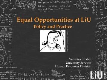 Towards equal opportunities at LiU.pdf - Linköping University