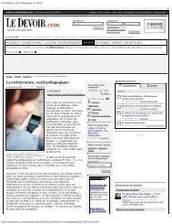La twittérature, outil pédagogique - Centre de recherche sur l ...