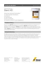 Bakit HO_de.pdf - Kiesel Bauchemie GmbH & Co.KG