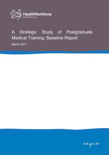 A Strategic Study of Postgraduate Medical Training - Health ...