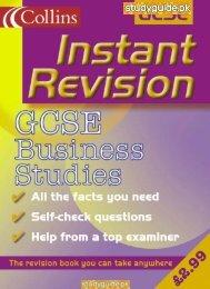 Business Studies Collins Revision Guide. - StudyGuide.PK