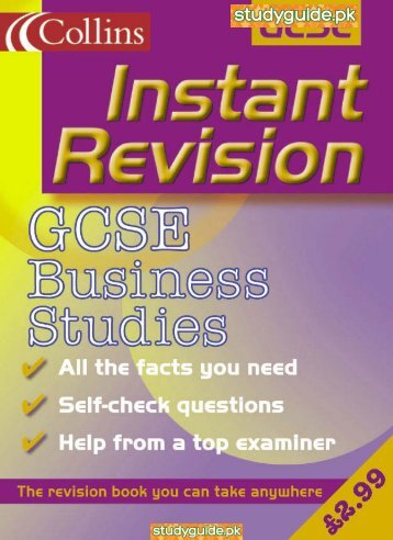 Business Studies Collins Revision Guide. - StudyGuide.PK