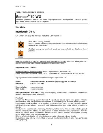 Sencor 70 WG