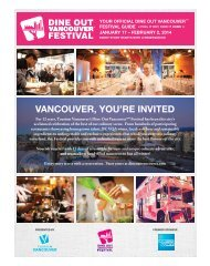 Download our Official Festival Guide - Dine Out Vancouver