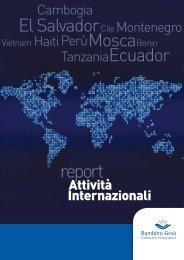 Report Attività Internazionali 2012 - News - Ospedale Pediatrico ...