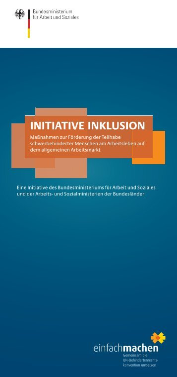 Initiative Inklusion - Flyer - Gemeinsam einfach machen