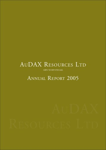 June 2005 Annual Report - ADX Energy