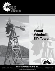 Wood Windmill DIY Tower - Outdoor Water Solutions