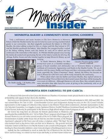 May 2013 MCOC Newsletter - Monrovia California Chamber of ...