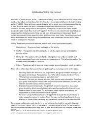 Collaborative Writing Help Handout
