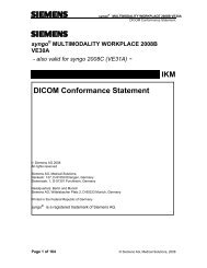 DICOM Conformance Statement - Siemens Healthcare