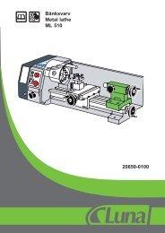 Bänksvarv Metal lathe ML 510 20650-0100