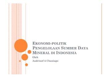 ekonomi-politik pengelolaan sumber daya mineral di indonesia - IESR