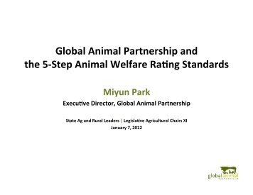 Miyun Park - State Agriculture and Rural Leaders
