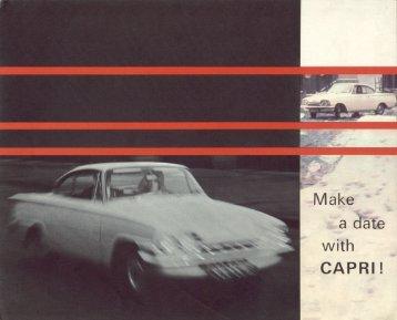Ford Consul Capri - Wielka Brytania - 08.1963 - Capri.pl