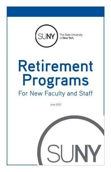 Retirement Programs - The State University of New York