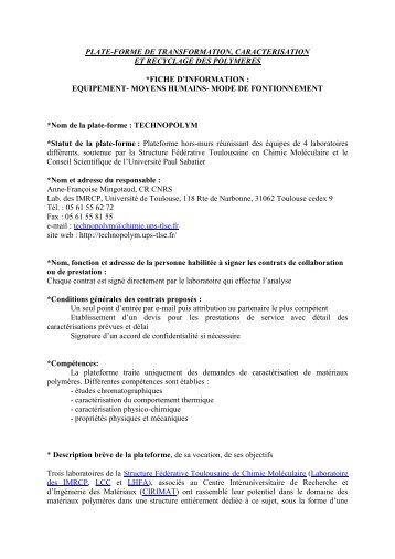 Technopolym - Groupe Français d études et d applications des ...