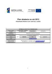 Plan działania dla Priorytetu VI - wup rzeszow.pl - Wojewódzki ...