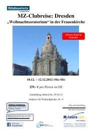 12 10 Reiseprogramm Dresden Frauenkirche