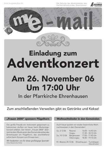 Am 26. November 06 Um 17:00 Uhr - Musikverein des ...