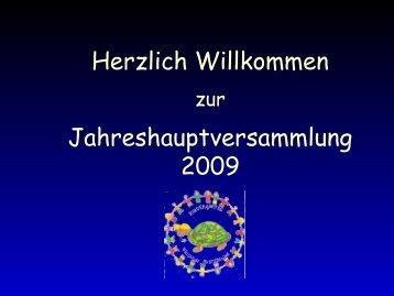 Jahreshauptversammlung 2009 - Kindergarten Schonstett