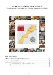 Projet MATh.en.Jeans Maroc 2012-2013 - Lycée Lyautey