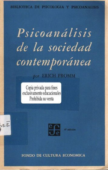 Psicoanálisis de la sociedad contemporánea - Exordio