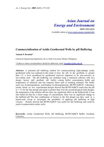 Commercialisation of acidic geothermal wells by ph buffering