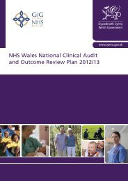 NHS Wales National Clinical Audit and Outcome Review ... - HQIP