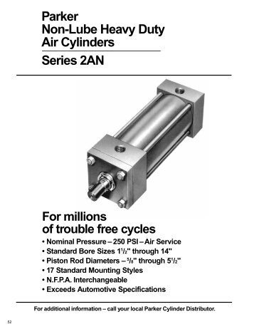 Parker Non-Lube Heavy Duty Air Cylinders ... - Wainbee Limited